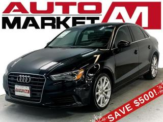 Used 2016 Audi A3 2.0T Premium Plus Sedan quattro S tronic Certified! Leather Interior! We Approve All Credit! for sale in Guelph, ON