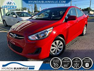 Used 2016 Hyundai Accent GL DÉMAR DISTANCE, BLUETOOTH, BANCS CHAU for sale in Blainville, QC