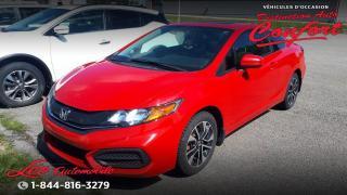 Used 2015 Honda Civic EX 2 portes CVT for sale in Chicoutimi, QC