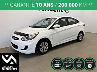 Used 2016 Hyundai Accent GL ** GARANTIE 10 ANS ** Économique et pratique! for sale in Shawinigan, QC