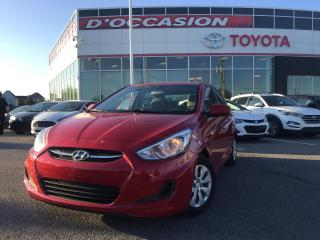 Used 2016 Hyundai Accent GL **AUTO/AIR/VITRES** 65 260KM* for sale in St-Eustache, QC
