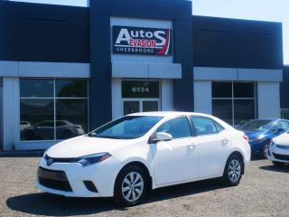Used 2015 Toyota Corolla LE + BLUETOOTH + CAMÉRA + BAS KILO for sale in Sherbrooke, QC