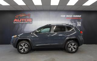 Used 2016 Jeep Cherokee TRAILHAWK 4X4 V6 3.2L CUIR CAMERA MAGS 62 083 KM ! for sale in Lévis, QC