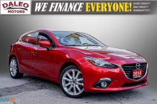 Used 2014 Mazda MAZDA3 GT-SKY / LEATHER / NAVI / MOONROOF / BACK UP CAM / for sale in Hamilton, ON