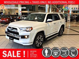 Used 2019 Toyota 4Runner Limited - Nav / Sunroof / Leather / 7 Pass for sale in Richmond, BC
