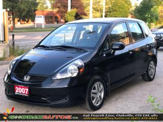 Used 2007 Honda Fit LX w/Cruise Control|LOW KM|NO ACCIDENT|CERTIFIED for sale in Oakville, ON