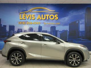 Used 2016 Lexus NX 200t F-SPORT 3 GPS NAVIGATION TOIT OUVRANT CU for sale in Lévis, QC