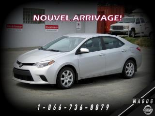 Used 2014 Toyota Corolla LE + BAS KILO + MAGS + CAMÉRA + BLUETOOT for sale in Magog, QC