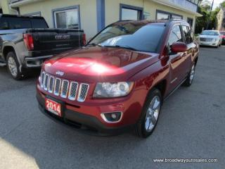 Used 2014 Jeep Compass LOADED LIMITED EDITION 5 PASSENGER 2.4L - DOHC.. 4X4.. NAVIGATION.. LEATHER.. HEATED SEATS.. POWER SUNROOF.. KEYLESS ENTRY.. for sale in Bradford, ON