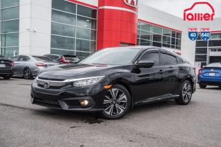 Used 2017 Honda Civic GARANTIE LALLIER MOTO-PROPULSEUR 10ANS/200,000 KIL 02300A NOIR for sale in Terrebonne, QC