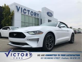Used 2020 Ford Mustang EcoBoost Premium| NAV| LEATHER| HTD CLD SEATS| for sale in Chatham, ON