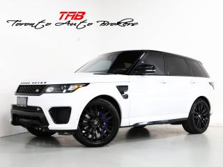 Used 2017 Land Rover Range Rover Sport SVR V8 SC I PANO I MERIDIAN I 22 INCH WHEELS for sale in Vaughan, ON