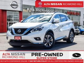 Used 2018 Nissan Murano SV   Apple Carply   Remote Start   Moonroof for sale in Richmond Hill, ON
