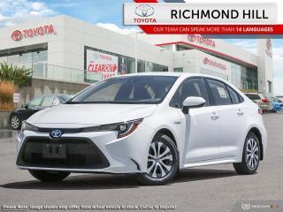 New 2021 Toyota Corolla COROLLA HYBRID for sale in Richmond Hill, ON