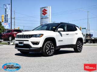 Used 2018 Jeep Compass Limited 4x4 ~Nav ~Camera ~Leather ~Panoramic Roof for sale in Barrie, ON