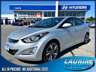 Used 2014 Hyundai Elantra Limited - Leather/Sunroof for sale in Port Hope, ON