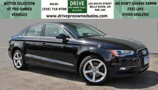 Used 2016 Audi A3 2.0T Komfort ONE OWNER VEHICLE | NO ACCIDENTS | AWD Heated Leather Sun Roof Bluetooth Backup Cam for sale in Belle River, ON