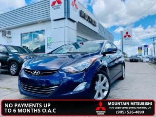 Used 2013 Hyundai Elantra Limited with Navigation  - $29.45 /Wk for sale in Hamilton, ON