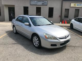 Used 2007 Honda Accord 4dr V6 EX-L w-Navi,LEATHER! BLUETOOTH,CERTIFIED ! for sale in Burlington, ON