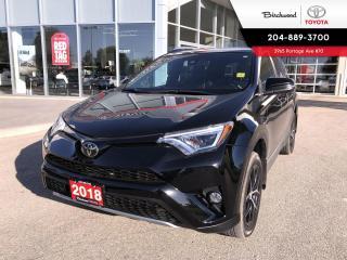 Used 2018 Toyota RAV4 SE AWD | Navigation | Moonroof | Leather | for sale in Winnipeg, MB
