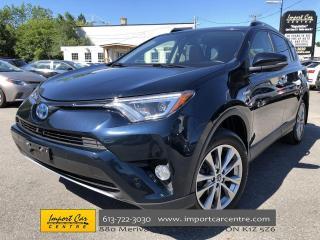 Used 2018 Toyota RAV4 Hybrid Limited LEATHER  ROOF  NAVI  BLIS  JBL  BACKUP CAM for sale in Ottawa, ON