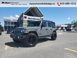 Used 2019 Jeep Wrangler Unlimited Sahara  XD rims-Wild Peak Tires-Soft + Hard Top for sale in Ottawa, ON