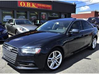 Used 2014 Audi A4 Technik-Quattro-NAVIGATION-CAM RECUL-TOIT OUVRANT for sale in Laval, QC