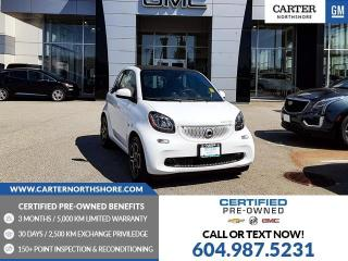 Used 2018 Smart fortwo electric drive Passion HEATED SEATS - REAR VIEW CAMERA - BLUETOOTH for sale in North Vancouver, BC