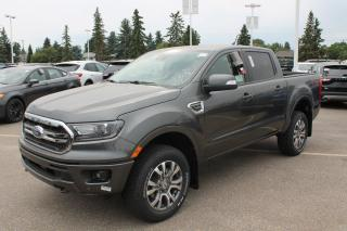 New 2020 Ford Ranger Lariat 500A, Supercrew 4X4, 2.3L Ecoboost, Power Heated Seats, Forward and Reverse Sensing System, Lane Keeping System, Pre-Collision Assist, Rear View Camera, Navigation for sale in Edmonton, AB