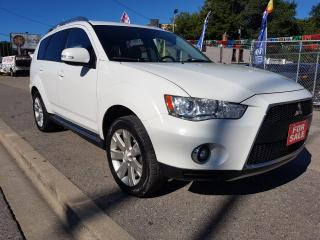 Used 2010 Mitsubishi Outlander GT-MINT-121K-7 SEATS-LEATHER-SUNROOF-BLUETOOTH-AUX for sale in Scarborough, ON