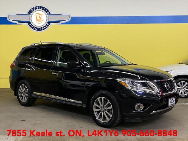 2015 Nissan Pathfinder SL AWD, Leather, Blind Spot, B Cam, DVD
