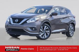 Used 2016 Nissan Murano PLATINUM MAGS 20'' - NAVIGATION - TOIT PANORAMIQUE - DEMARREUR A DISTANCE for sale in Montréal, QC