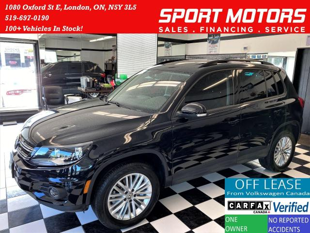 2016 Volkswagen Tiguan 4Motion AWD+GPS+CAM+Roof+Apple Play+Accident Free