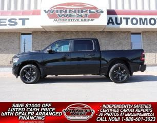 Used 2019 Dodge Ram 1500 SPORT LEVEL II CREW, LEATHER, PAN ROOF, FLAWLESS!! for sale in Headingley, MB