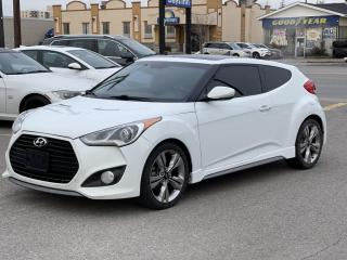 Used 2013 Hyundai Veloster CLEAN 3dr Cpe Turbo \1 YEAR WARRANTY INCULDED for sale in Brampton, ON