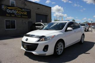 Used 2012 Mazda MAZDA3 BLIND SPOT,NAVIGATION,GT,LEATHER,SUNROOF,REMOTE STARTER for sale in Newmarket, ON