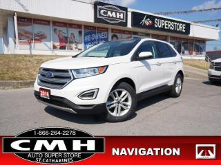 Used 2016 Ford Edge SEL  NAV CAM ROOF P/SEATS HTD-SEATS for sale in St. Catharines, ON