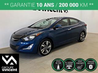 Used 2016 Hyundai Elantra LIMITED GPS ** GARANTIE 10 ANS ** Fiable, économique et très bien équipé! for sale in Shawinigan, QC