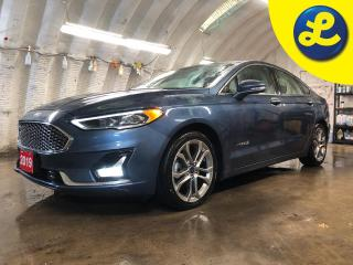 Used 2019 Ford Fusion Hybrid Titanium * Navigation * Letaher * Sunroof * Heated and a/c cooled front seats * ATKINSON CYCLE I-4 HYBRID * Blind spot assist * Reverse camera with pa for sale in Cambridge, ON