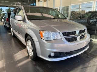 Used 2017 Dodge Grand Caravan CREW PLUS, ACCIDENT FREE, POWER HEATED LEATHER SEATS AND STEERING WHEEL, REAR VIEW CAMERA for sale in Edmonton, AB