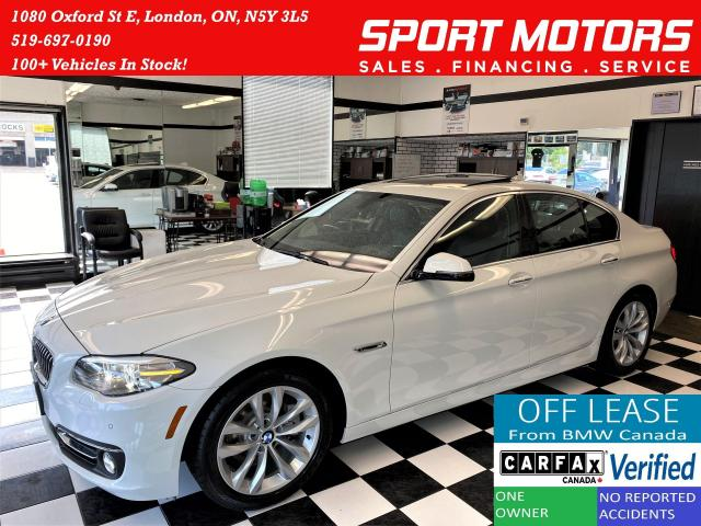 2016 BMW 5 Series 528i xDrive+GPS+Leather+New Brakes+Accident Free