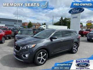 Used 2016 Kia Sorento EX  - Trade-in - 3rd Row - Back Up Camera - $140 B for sale in Sturgeon Falls, ON
