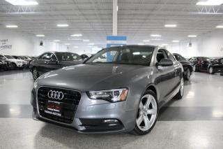 Used 2014 Audi A5 QUATTRO I SUNROOF I LEATHER I HEATED SEATS I BT for sale in Mississauga, ON
