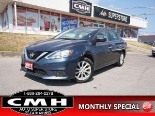 Used 2017 Nissan Sentra SV  CAM BLUETOOTH ROOF HTD-SEATS 16-AL for sale in St. Catharines, ON