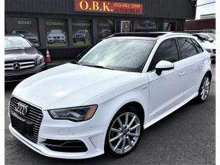 Used 2016 Audi A3 TECHNICK-E TRON-HYBRIDE-NAVIGATION-CAM RECUL-TOIT for sale in Laval, QC