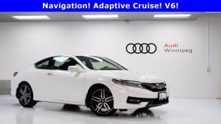Used 2016 Honda Accord Coupe Touring w/Leather & Sunroof *Local Trade* for sale in Winnipeg, MB