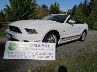 Used 2013 Ford Mustang PREMIUM, V6, LEATHER, INSPECTED, BCAA MBSHP, WARRANTY & FINANCING! for sale in Surrey, BC