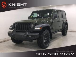 New 2021 Jeep Wrangler Willys Unlimited | Technology Group | for sale in Regina, SK