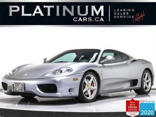 Used 2002 Ferrari 360 Modena, V8, 395HP, MANUAL, DAYTONA SEATS, SCUDERIA for sale in Toronto, ON