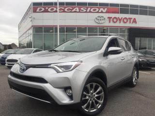 Used 2016 Toyota RAV4 Hybrid HYBRIDE LIMITED **CUIR/TOIT/GPS** for sale in St-Eustache, QC